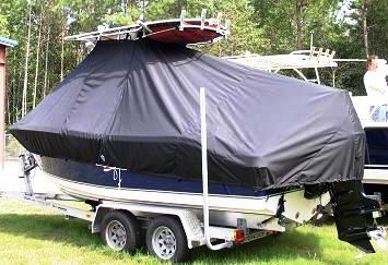 NauticStar, 2000XS Offshore, 20xx, TTopCovers™ T-Top boat cover, port rear