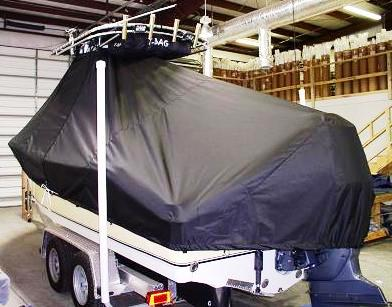 NauticStar 2200 Offshore, 20xx, TTopCovers™ T-Top boat cover 399 rear