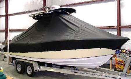NauticStar 2200 Offshore, 20xx, TTopCovers™ T-Top boat cover front