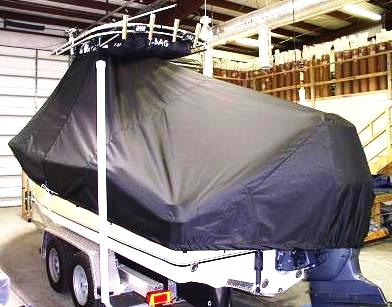 NauticStar 2200 Offshore, 20xx, TTopCovers™ T-Top boat cover rear