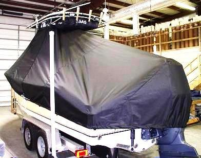 NauticStar 2200XS Offshore, 20xx, TTopCovers™ T-Top boat cover, port rear