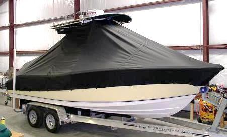 NauticStar 2200XS Offshore, 20xx, TTopCovers™ T-Top boat cover, starboard front
