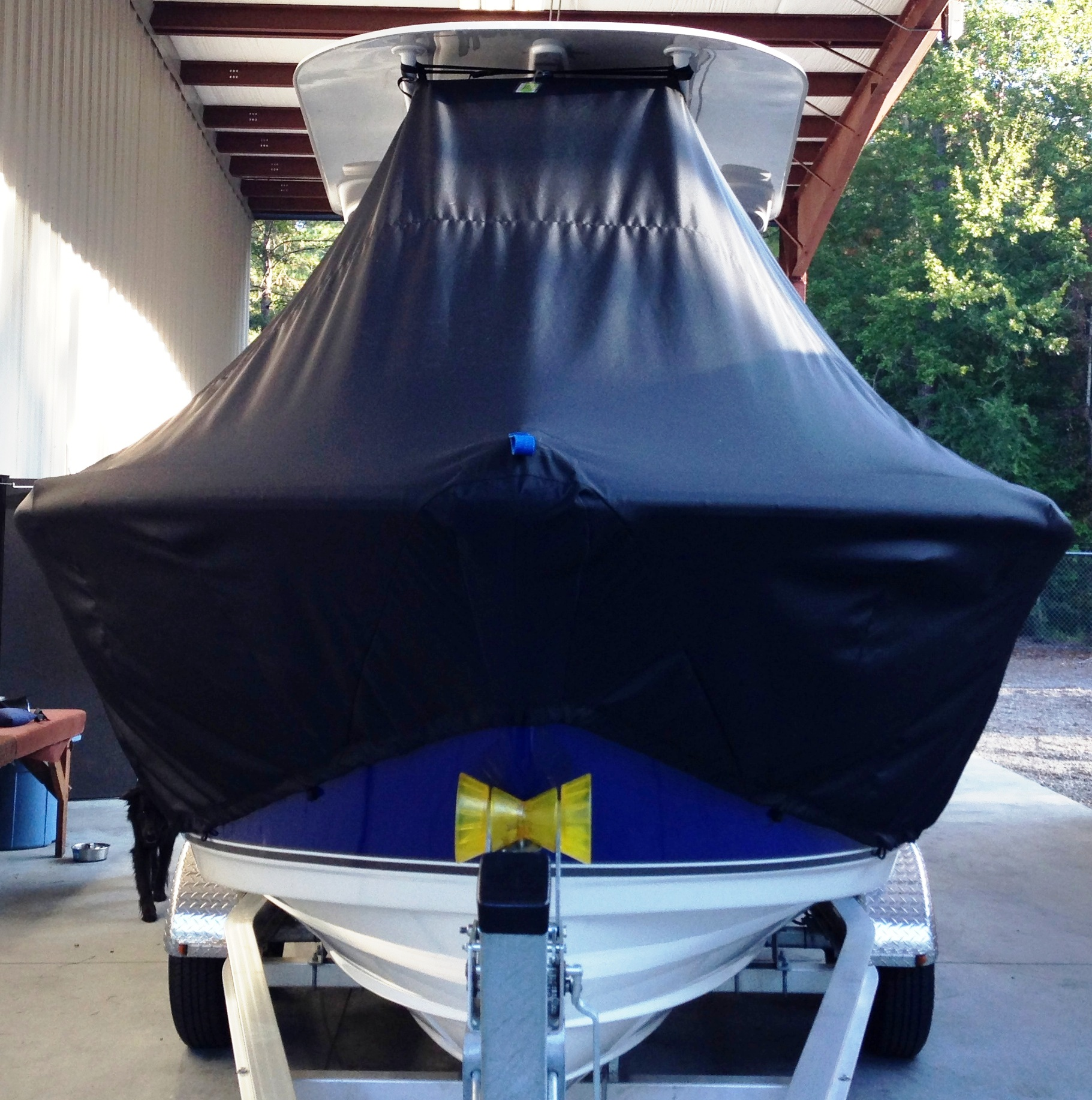 NauticStar 22XS, 20xx, TTopCovers™ T-Top boat cover front