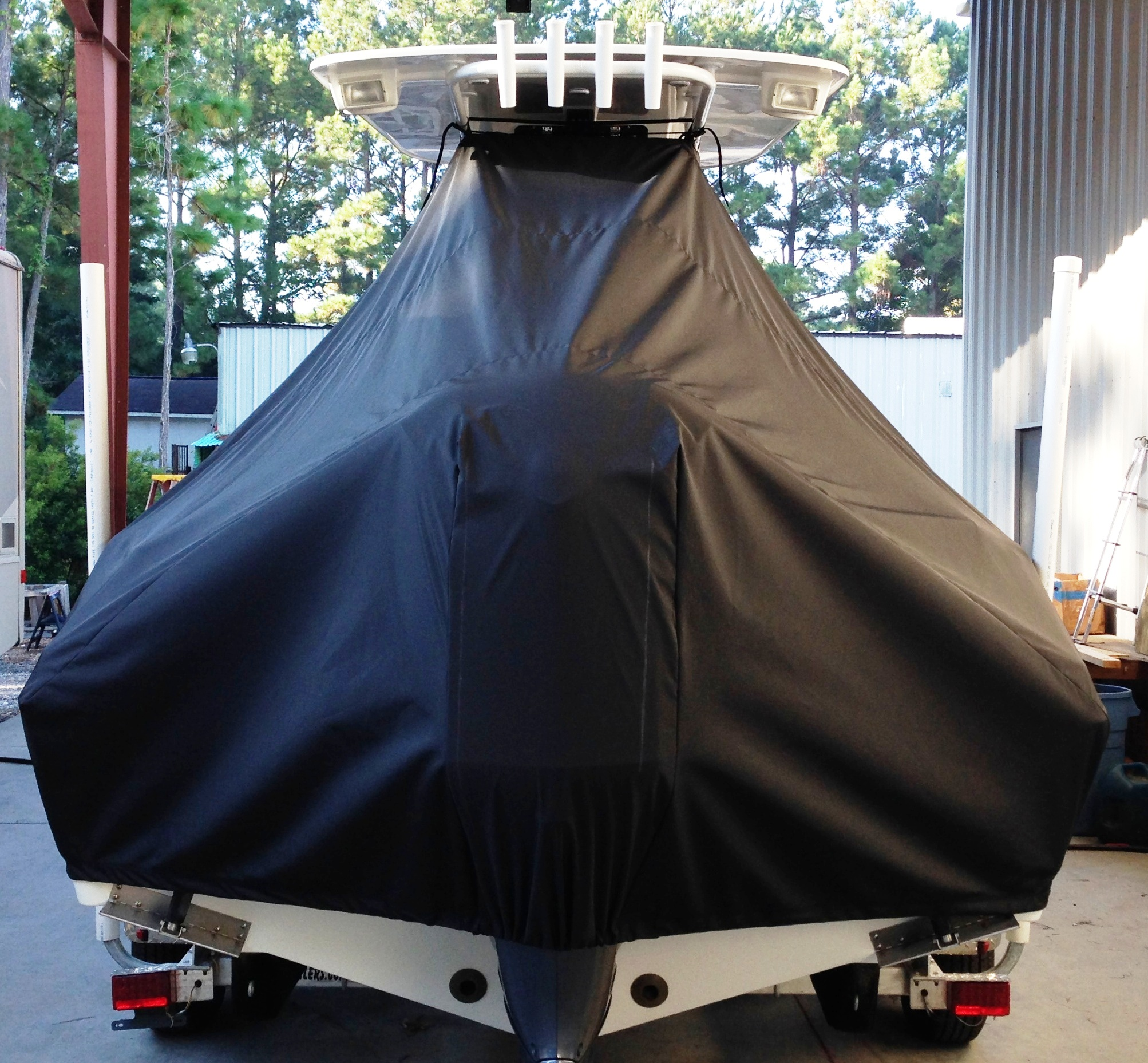 NauticStar 22XS, 20xx, TTopCovers™ T-Top boat cover rear
