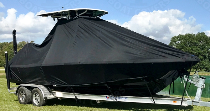 NauticStar 244 XTS, 20xx, TTopCovers™ T-Top boat cover, starboard front
