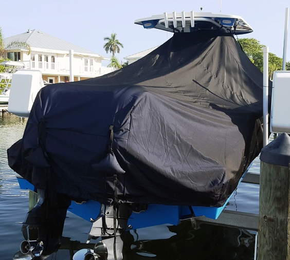 NauticStar 28XS, 20xx, TTopCovers™ T-Top boat cover, starboard rear