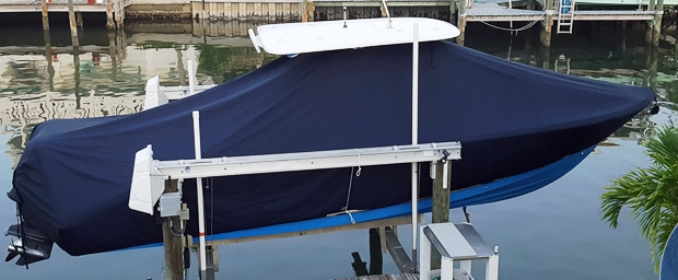 NauticStar 28XS, 20xx, TTopCovers™ T-Top boat cover, starboard side