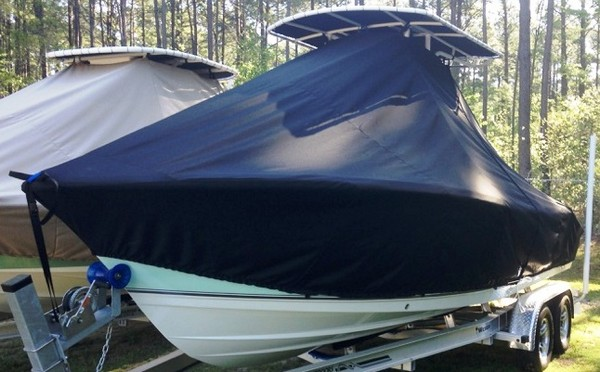 Nauticstar 2302 Legacy, 20xx, TTopCovers™ T-Top boat cover, port front