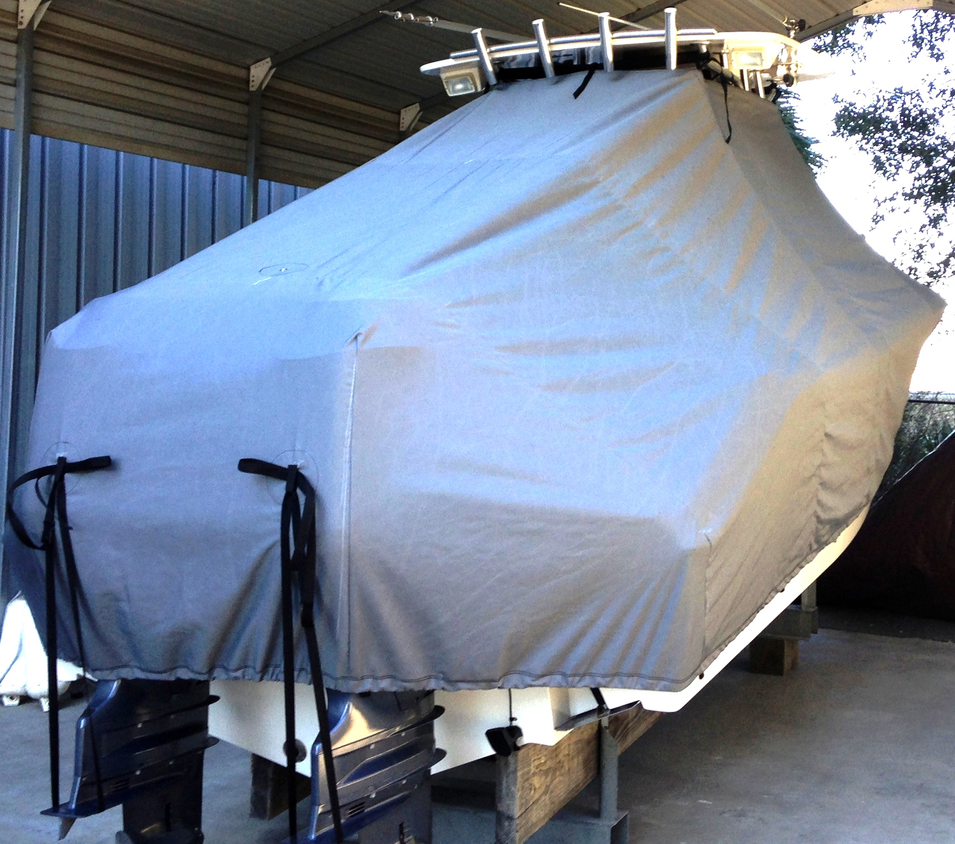 Nauticstar 2500XS, 20xx, TTopCovers™ T-Top boat cover, starboard rear