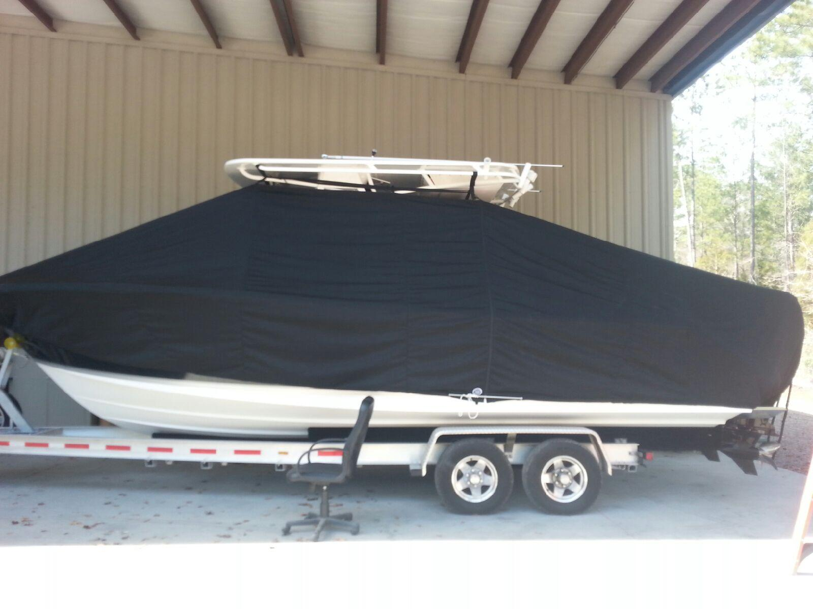 Onslow Bay 27, 20xx, TTopCovers™ T-Top boat cover, port side