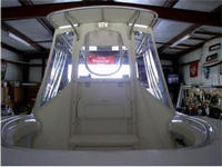Photo of Palmetto Custom® 23 Adventure, 2004: OEM White Canvas T-Top, Spray-Shield & Gull-Wings, Front