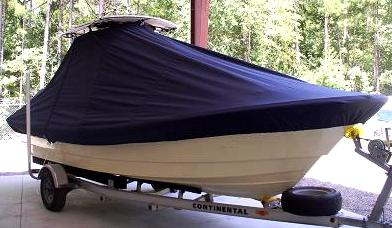 Panga 22 Boca Grande, 20xx, TTopCovers™ T-Top boat cover, starboard front