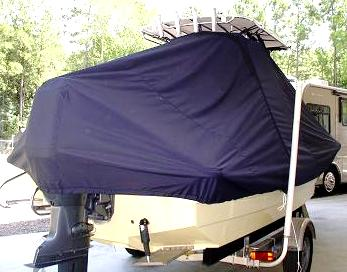 Panga 22 Boca Grande, 20xx, TTopCovers™ T-Top boat cover, starboard stern