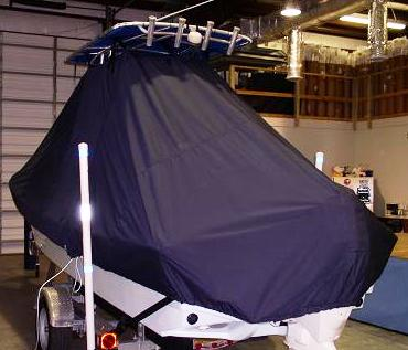 Panga 22LX, 20xx, TTopCovers™ T-Top boat cover, port stern