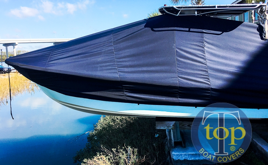 Panga 27 Yucatan, 20xx, TTopCovers™ T-Top boat cover, port side