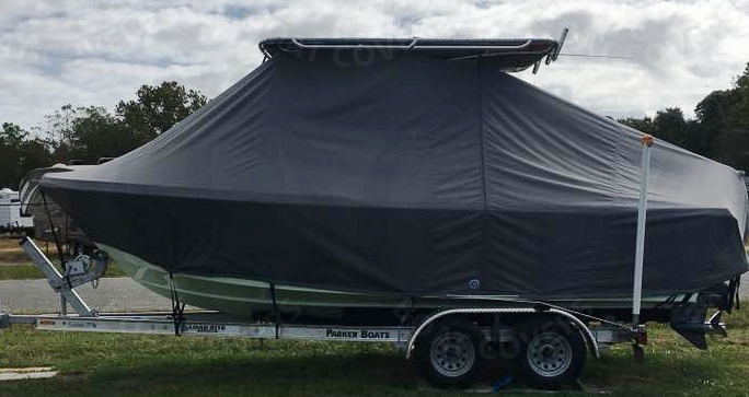 Parker 21SE, 20xx, TTopCovers™ T-Top boat cover, port side