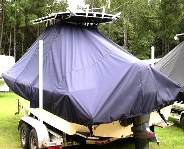 Parker 2300DV, 20xx, TTopCovers™ T-Top boat cover, port rear