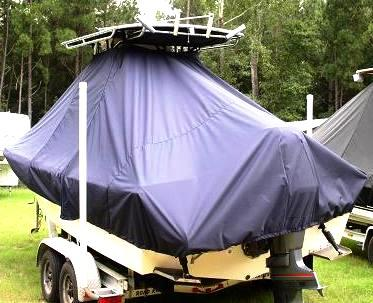 Parker 2300SE, 20xx, TTopCovers™ T-Top boat cover, port rear