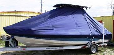 Pathfinder, 2000, 20xx, TTopCovers™ T-Top boat cover, port front