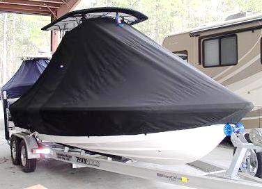 Pathfinder 2200 TRS, 20xx, TTopCovers™ T-Top boat cover, starboard front