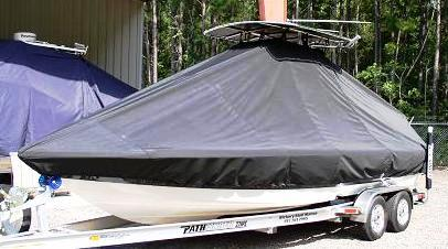 Pathfinder 2300 HPS, 20xx, TTopCovers™ T-Top boat cover, port front