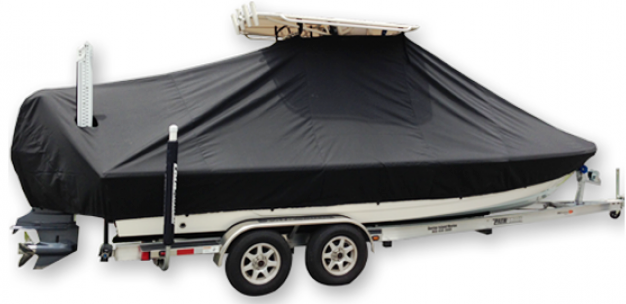 Pathfinder 2400 TRS, 20xx, TTopCovers™ T-Top boat cover Power Pole, starboard side