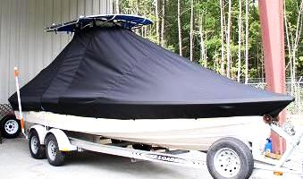 Pathfinder 2400, 20xx, TTopCovers™ T-Top boat cover, starboard front   Copy