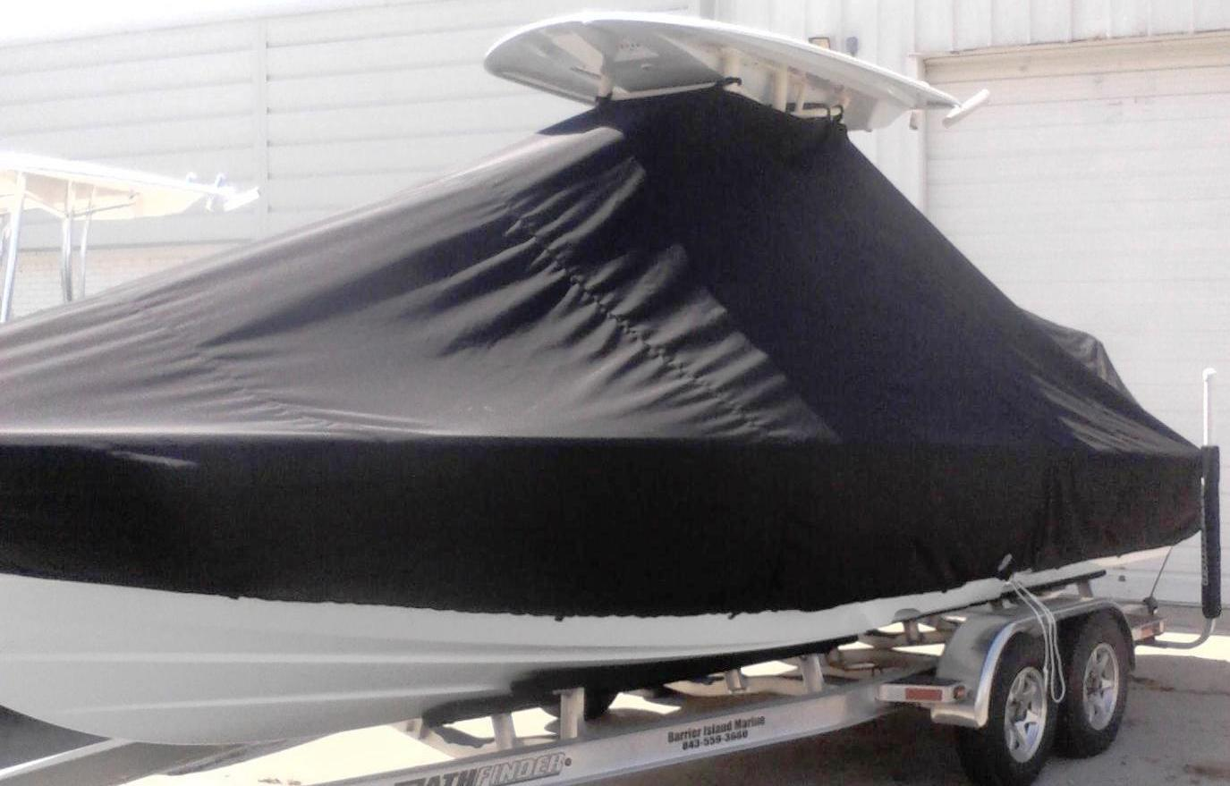 Pathfinder 2600 HPS, 20xx, TTopCovers™ T-Top boat cover, port front