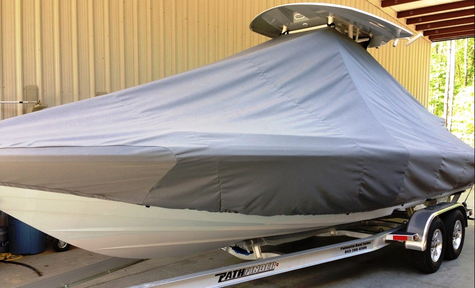 Pathfinder 2600 TRS, 20xx, TTopCovers™ T-Top boat cover, port front