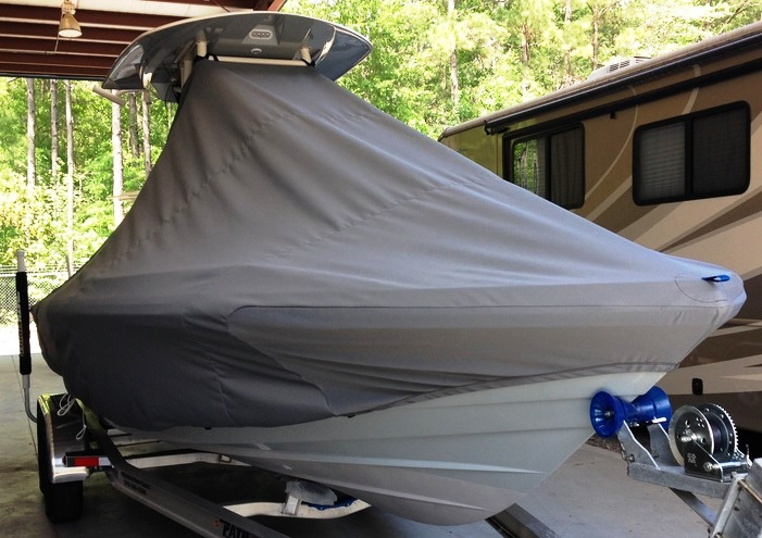 Pathfinder 2600 TRS, 20xx, TTopCovers™ T-Top boat cover, starboard front