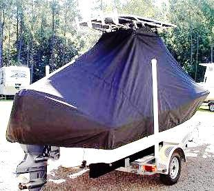 Pioneer 180 Islander, 20xx, TTopCovers™ T-Top boat cover, starboard rear