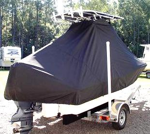 Pioneer 180 Sport Fish, 20xx, TTopCovers™ T-Top boat cover rear