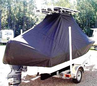 Pioneer 180 Sport Fish, 20xx, TTopCovers™ T-Top boat cover, starboard rear