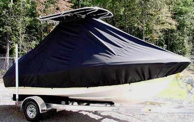 Pioneer 180 Sport Fish, 20xx, TTopCovers™ T-Top boat cover, starboard side