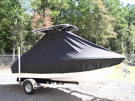 Pioneer 180CC, 20xx, TTopCovers™ T-Top boat cover Front 411