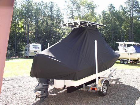 Pioneer 180CC, 20xx, TTopCovers™ T-Top boat cover Rear 411