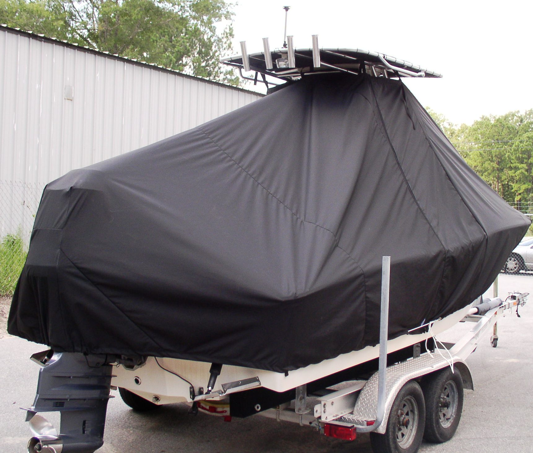 Pioneer, 197 Islander, 20xx, TTopCovers™ T-Top boat cover, starboard rear
