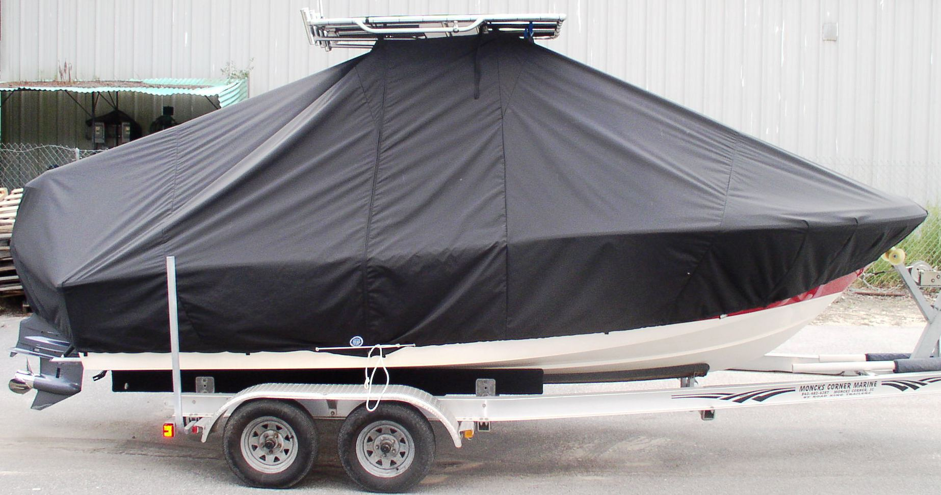 Pioneer, 197 Sport Fish, 20xx, TTopCovers™ T-Top boat cover, starboard side