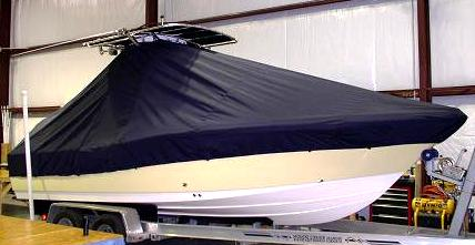 Pioneer 220 Bay Sport, 20xx, TTopCovers™ T-Top boat cover Front