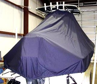 Pioneer 220 Bay Sport, 20xx, TTopCovers™ T-Top boat cover Rear