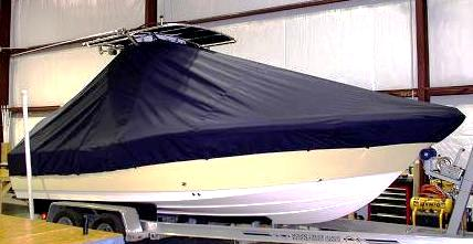 Pioneer 220 Bay Sport, 20xx, TTopCovers™ T-Top boat cover, starboard front