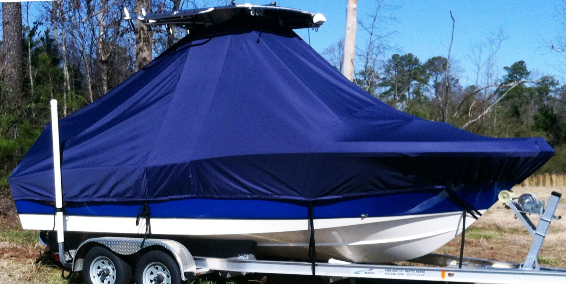 Pioneer 220 Bay Sport, 20xx, TTopCovers™ T-Top boat cover, starboard side