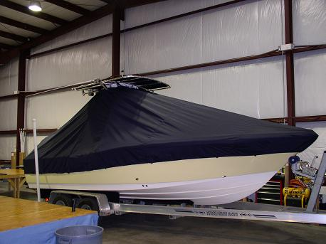 Pioneer 220CC, 20xx, TTopCovers™ T-Top boat cover Front 412