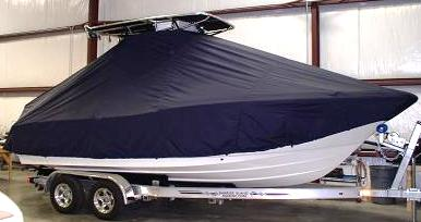 Pioneer 222 Sport Fish, 20xx, TTopCovers™ T-Top boat cover Front
