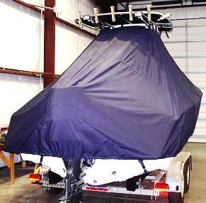 Pioneer 222 Sport Fish, 20xx, TTopCovers™ T-Top boat cover Rear