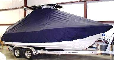 Pioneer 222 Sport Fish, 20xx, TTopCovers™ T-Top boat cover, starboard side