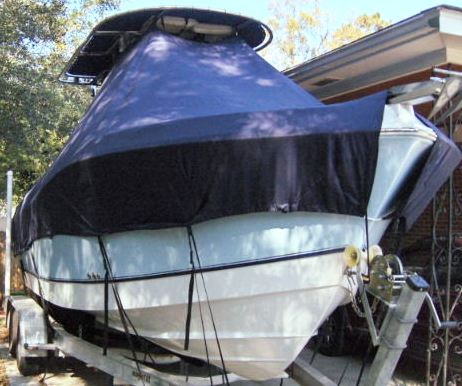 Polar 2300CC, 20xx, TTopCovers™ T-Top boat cover, starboard front