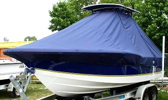 Polar 2310 Bay, 20xx, TTopCovers™ T-Top boat cover Port Front