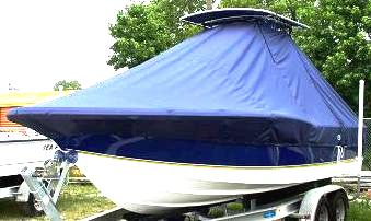 Polar 2310BB, 20xx, TTopCovers™ T-Top boat cover, port front