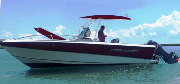 ProLine 210 Sportsman, 19xx, T-Topless™ Image Overlaid